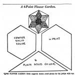 Vintage Quilt Pattern  6 Point Flower Garden