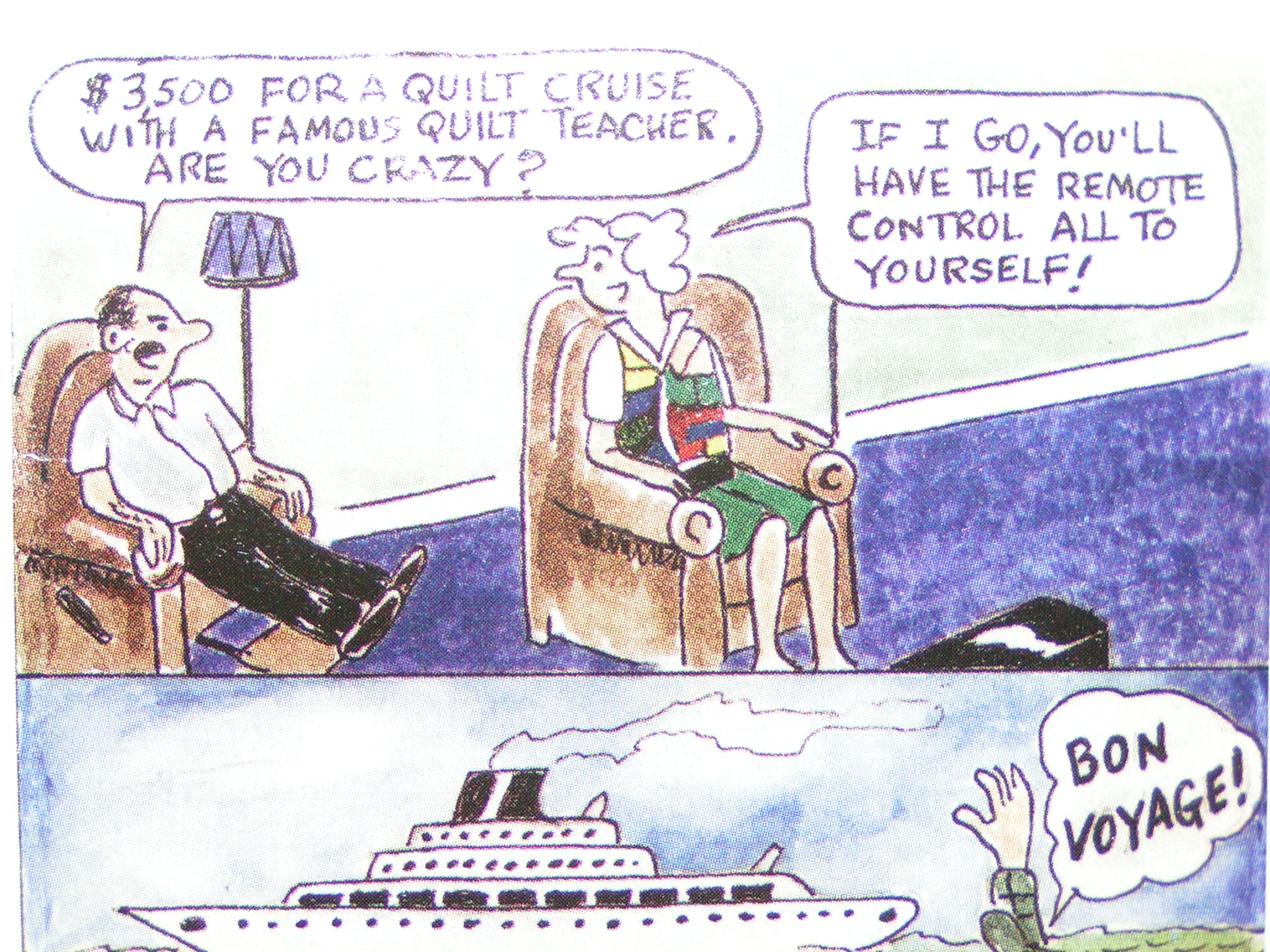 Great Cartoon We Love Quilting And Everything Else