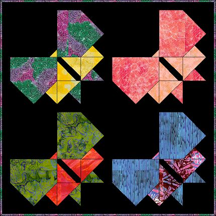 Stained Glass Butterfly Free Quilt Pattern