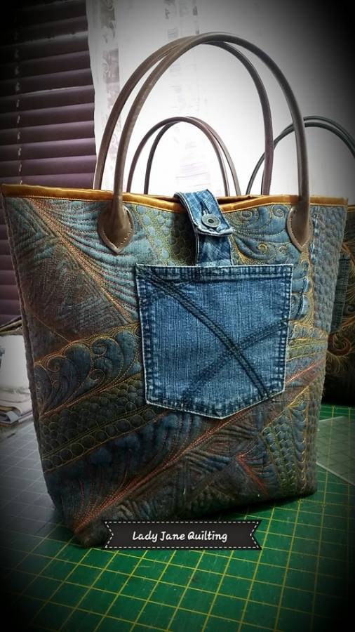 Denim Bag back 2